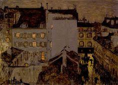 Montmartre in the Rain, 1897, Pierre Bonnard. French ( 1867 - 1947)