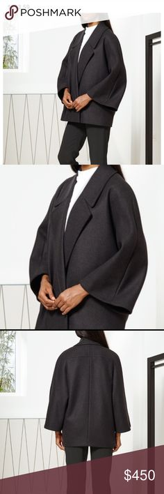 Chalayan wide collar sculptural jacket - nwot Amazing sculptural coat made in London. New without tags. Amazing fabric and drape. Adds dramatic minimalism to any look.   Picture is charcoal but mine is black. 75% Virgin Wool, 20% Polyamide, 5% Cashmere    Italian Sizing Chalayan Jackets & Coats