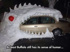 Making the best of a snowy situation...