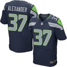 7e8e50a74 Seattle Seahawks  37 Shaun Alexander Navy Blue Retired Player NFL Nike Elite  Men s Jersey Nfl