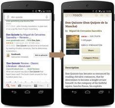 Google Search permite en todo el mundo abrir los resultados en aplicaciones, aunque solo en inglés http://www.xatakandroid.com/p/108318