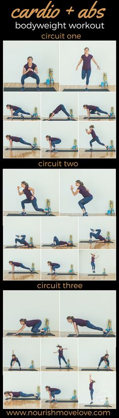 cardio + abs bodyweight workout. circuit workout, equipment free, perfect for travel, at-home workout for fit moms, fit life. | www.nourishmovelove.com
