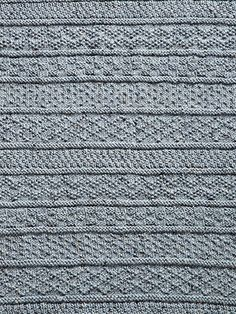 Made to mimic the beautiful texture and coziness of an old-time fisherman's sweater, this gansey afghan will keep you warm through all the…