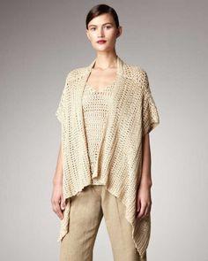 Donna Karan #crochet kimono sweater