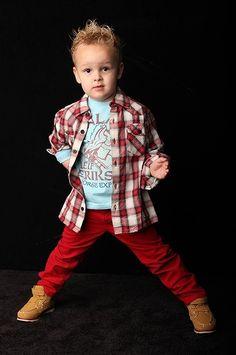 Kids colored skinny jeans for only $4.99!! - cutest little boy outfit :)