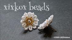 Bead Embroidery Jewelry, Beaded Jewelry Patterns, Beading Patterns, Beaded Embroidery, Bead Jewellery, Bead Earrings, Hand Embroidery Videos, Beading Tutorials, Beaded Flowers