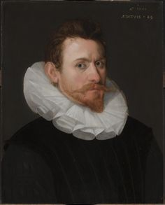 16th Century Dutch portrait of a gentleman by the Circle of Cornelis Ketel (1548–1616). circa 1591.