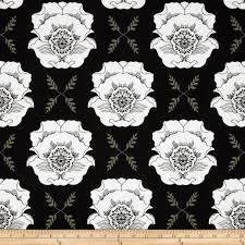 Mod Studio Large Floral Damask in Black and White from Riley Blake Designs listing for 1 Yard   FM by FabricCloseouts on Etsy