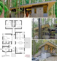 prefab cabin with blueprint