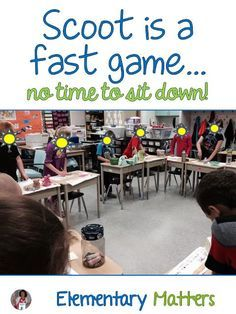 Active Students? Try Scoot! The game, Scoot, can be played a number of ways for a variety of reasons. Here are the basics of the game, and a few suggestions!