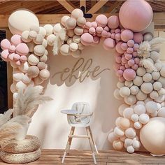 Birthday Decorations At Home, Girls Birthday Party Themes, Balloon Decorations Party, Baby Girl Birthday, Wild One Birthday Party, Balloon Garland, Baby Party, Birthday Parties, Looks Party
