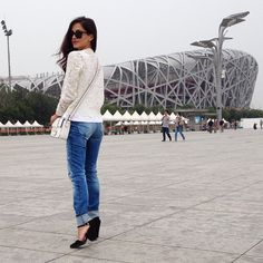 Can't get enough of this city! #beijing #olympicpark #ootd