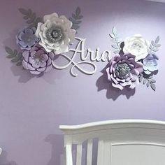 6 piece nursery paper flower set / paper flowers / nursery decor / nursery flowers