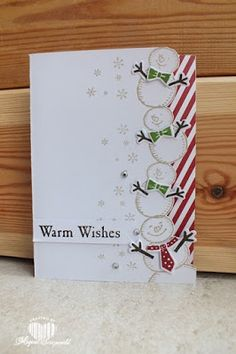 Magical Scrapworld: warm wishes, snowman, Stampin' Up! , snow place