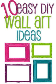 10 Easy DIY Wall Art Ideas