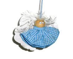 Sewing Angel Ornament by ThisandThatCrafter on Etsy, $16.95