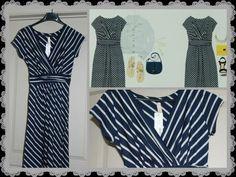 Cute dress -- Nikky striped faux wrap