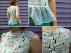 Details of Laney's Voile and Chiffon top