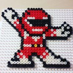 Red Power Ranger hama beads by sebholaa945history
