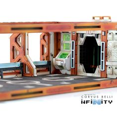 This Product Contains one complete Cosmica HAB building, designed for Infinity the Game. It includes one Zeta Frame with one Cosmica Airlock Facade, one Cosmica Bunks Facade, one Cosmica Observation P