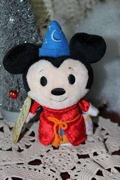 D23 2013 EXPO DISNEY HALLMARK EXCLUSIVE SORCERER MICKEY MOUSE ITTY BITTY PLUSH