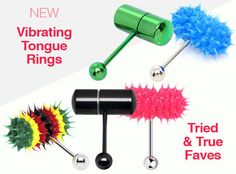 If you want to wear a tongue ring that will shock, amuse, and even turn people on then check out these obscene barbell tongue rings that feature tops with swear words, sexually suggestive language, and even with ganja and weed shapes and images. Cute Tongue Rings, Cute Tongue Piercing, Tongue Piercing Jewelry, Face Piercings, Daith Piercing, Peircings, Piercing Tattoo, Jewelry Tattoo, Body Jewelry