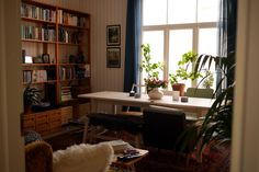 Our living room on a sunny day in January. tuulinenpaiva.fi