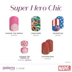 It's incredible how something as simple as gorgeous nails can make a woman feel empowered and beautiful, so when you team superhero chic with nail wraps, something wonderful emerges. The latest collaboration brings you MARVEL Presented by Jamberry, with some … Continued