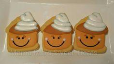 Happy pumpkin pie cookies