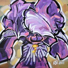 """Iris abstraction 5"" - Original Fine Art for Sale - © Roger Akesson"