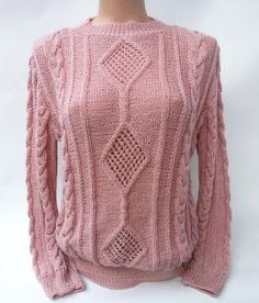 Regalo de invierno perfecta cálido suave grueso suéter para regalo de San Valentín de suéter de punto de mujer moda Jersey mano de trenzas mujer ropa rosa
