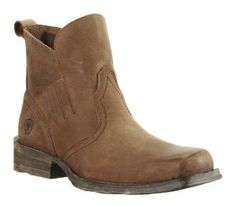 Ariat Dillinger Men's Smooth Distressed Brown Square Toe Shoe Boot