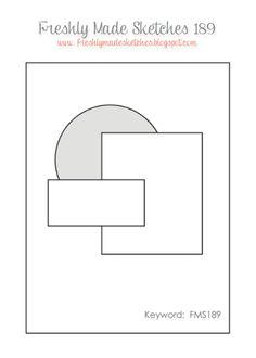 cardmaking design sketch: Freshly Made Sketches 189