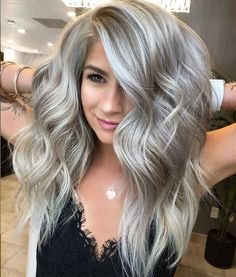 68 Hottest Medium Length Hairstyle With Layers Design To Look Stunning – Hair Styles Ash Blonde Hair Dye, Blonde Hair Colour Shades, Hair Color And Cut, Dyed Hair, Ash Blonde Balayage Silver, Medium Ash Blonde Hair, Cool Ash Blonde, Ash Gray Hair Color, Grey Blonde