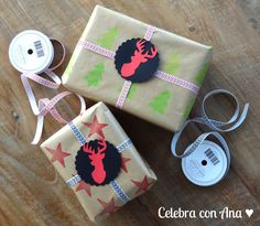 Packaging con papel estampado con sellos