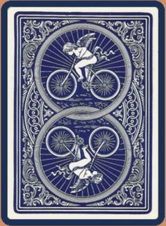 Bicycle No. 808 Cupid Back, Bicycle Cards, Bicycle Playing Cards, Cupid, Clock, Prints, House, Letters, Gaming, Watch