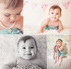 Great photos for a one year old shoot.....I can't believe in looking at 1 year photo ideas for my baby, say it isn't so!!!!