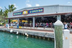 Conch Republic for fresh fish and great drinks.  Plus a waterview. Key West Florida, Destin Florida, Florida Travel, Florida Keys, Fl Keys, South Florida, Key West Restaurants, Chicago Restaurants, Great Places