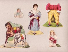 Lion Mclaughlins Coffee Victorian Die Cut Trade Card Advertising Paper Dolls | eBay