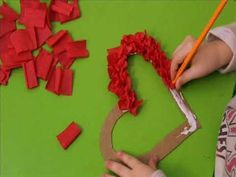 Easy DIY Folded Paper Hearts For Valentine's Day /// By Faith Provencher of Design Fixation Mothers Day Crafts For Kids, Valentine Crafts For Kids, Valentines Diy, Diy For Kids, Kids Crafts, Diy And Crafts, Arts And Crafts, Creative Crafts, Yarn Crafts