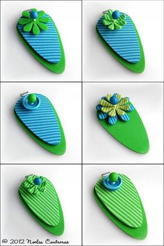 Pendants with interchangeable parts by Daoine, via Flickr