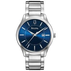 Bulova Stainless Steel Mens Watch 96B181 * Check this awesome product by going to the link at the image.