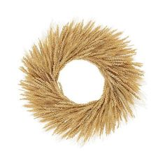 Wheat Wreath, Golden Sky (€41) found on Polyvore featuring home, home decor, floral decor, golden sky and tree home decor