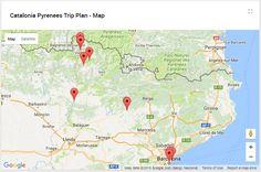 An interactive trip plan on a map