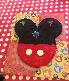 "***Make smaller for ""smash"" cake*** Mickey Mouse cake"