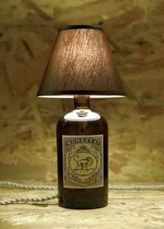 Items similar to Monkey gin Bottle Lamp on Etsy Wine Bottle Chandelier, Gin Brands, Memorial Day Sales, Gin Bar, Copper Lamps, Gin Bottles, Gin And Tonic, Mason Jar Lamp, Ideas