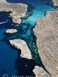 Aerial Photography - Aerial of Blue Lagoon, Comino, Malta