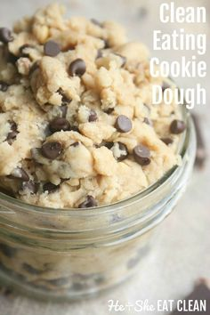 Clean Eating Cookie Dough is part of Clean eating cookies - This is my favorite recipe so far! I haven't had real cookie dough in a long time and I am the kind of person who prefers to eat the cookie dough instead of the cookie I Clean Eating Cookies, Clean Eating Desserts, Eating Clean, Clean Eating Brownies, Clean Eating Oatmeal, Oatmeal Diet, Clean Eating Breakfast, Breakfast Healthy, Eating Raw