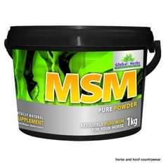 Global Herbs MSM Pure Naturally helps maintain your horse s joints and tendons in good working order keeping them comfortable and strong.