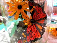 Quilled bug in a jar tutorial